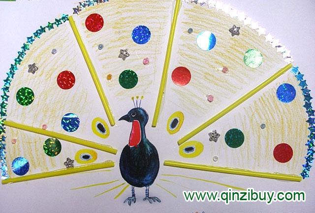 幼儿园大班美术造型教案:爱漂亮的孔雀